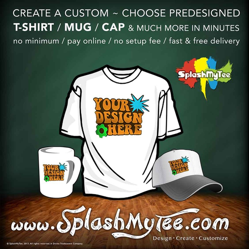 custom tshirt, mugs, caps, mouse pad, mumbai, india, www.splashmytee.com