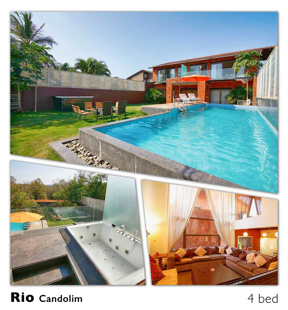luxury villa with pool candolim