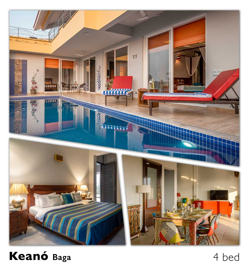baga beach luxury pool villa